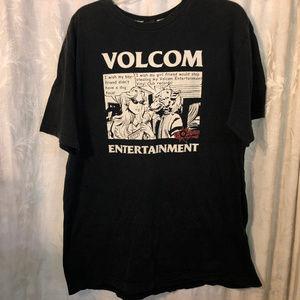 vintage volcom black xl graphic tee short sleeve